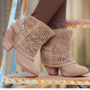 Naughty Monkey Bootie Taupe