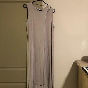 Bar III Light Gray Midi Dress