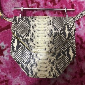 ♥️M2MALLETIER Python Amor Fati Clutch/Shoulder Bag