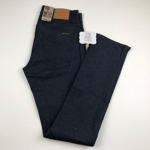 NWT 31x34 nudie jeans Grim Tim Recycle Dry Navy
