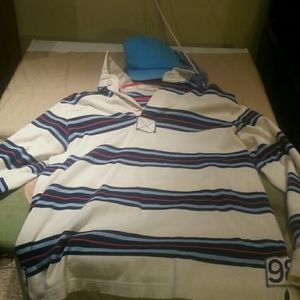 Long sleeve vineyard vine rugby shirt