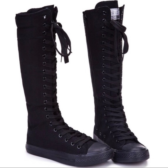 3d83c484af95 Converse All Star XXHI Knee High All Black Mono