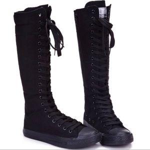 converse knee high boots. converse all star xxhi knee high black mono boots i