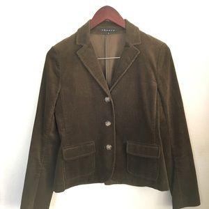 Theory Brown Corduroy Three Button Blazer sz 10