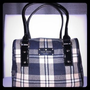 Kate Spade Plaid and Patent Leather Purse
