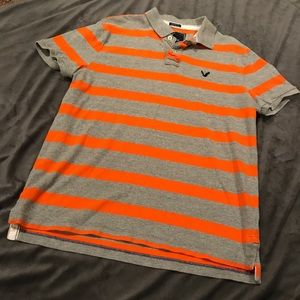 American Eagle Outfitters Large Polo Orange Cotton