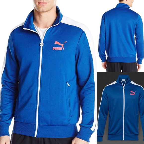 NEW Puma T7 Track Jacket  True Blue d87a420277