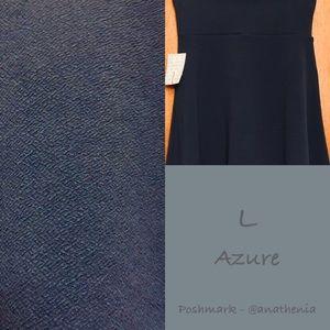 BNWT Blue LuLaRoe L Azure - Csssie Material