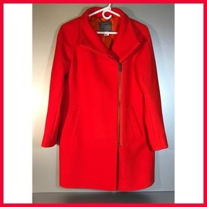 J.Crew Double-cloth Envelope Coat Sz 4 MSRP: $325!