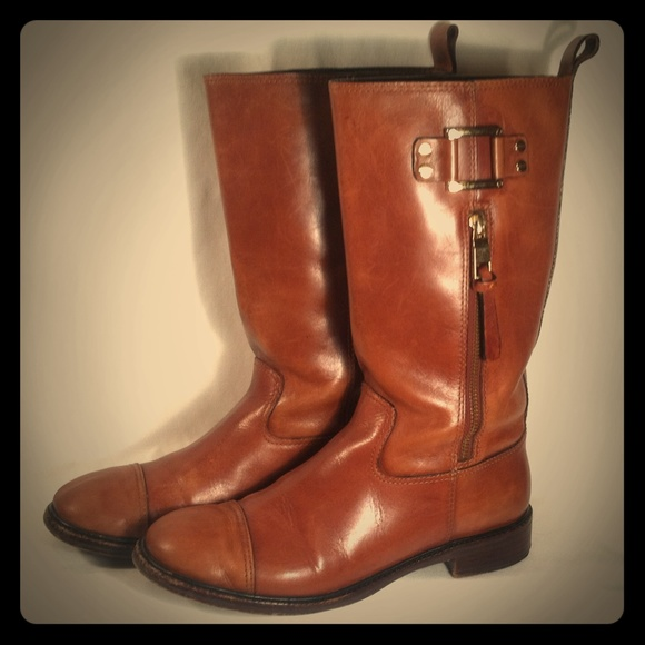 0dc07bafffc4 Tory Burch Stowe Vintage Hot Motorcycle Boots 8