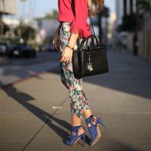 Anthropologie Sam & Lavi Floral Pants - Size XS