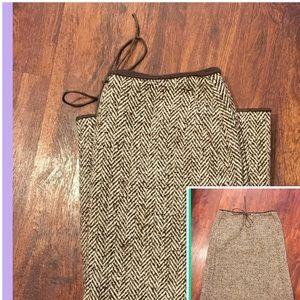 J.Crew Wool Blend A-Line Skirt
