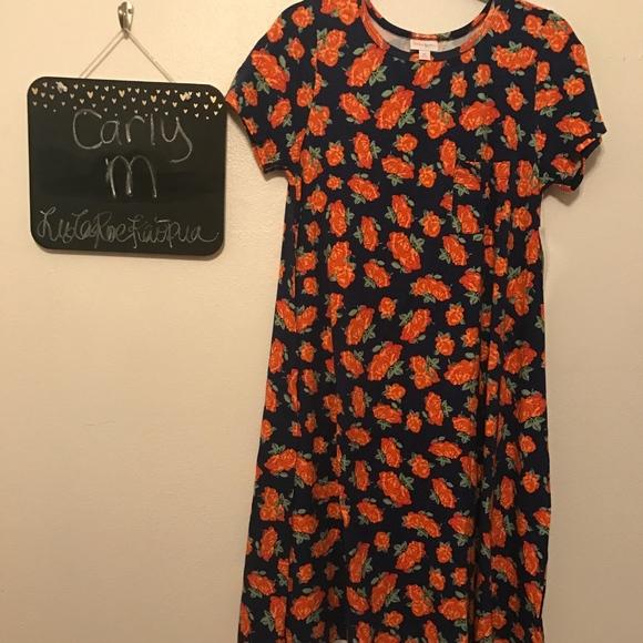 0ee78abef62ae LuLaRoe Carly. Orange roses.