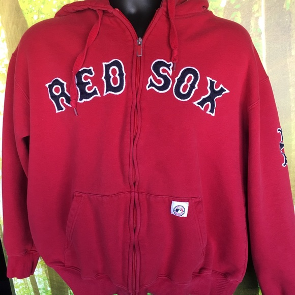 best service 9833c 32e65 Men's Large MLB Boston Red Sox Zip Up Hoodie