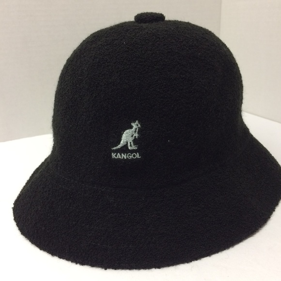 Kangol Black Bermuda Casual Hat size Large NWT bac7525e4eb8