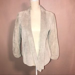 Blanca Noir Gray 100% Leather Jacket