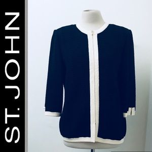 ST JOHN Collection Full Zip Sweater