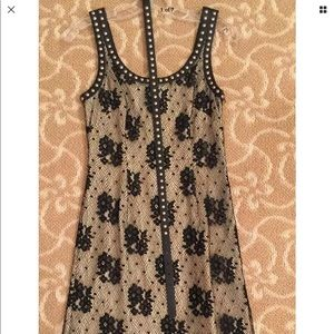 VINTAGE MOSCHINO CHEAP & CHIC BLACK  LACE DRESS 38