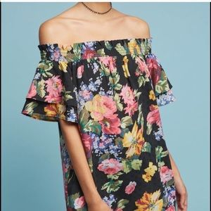 Anthropologie off shoulders flower dress