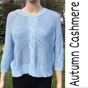 Baby blue autumn cashmere sweater