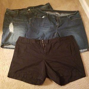 Pants - Trio of shorts..