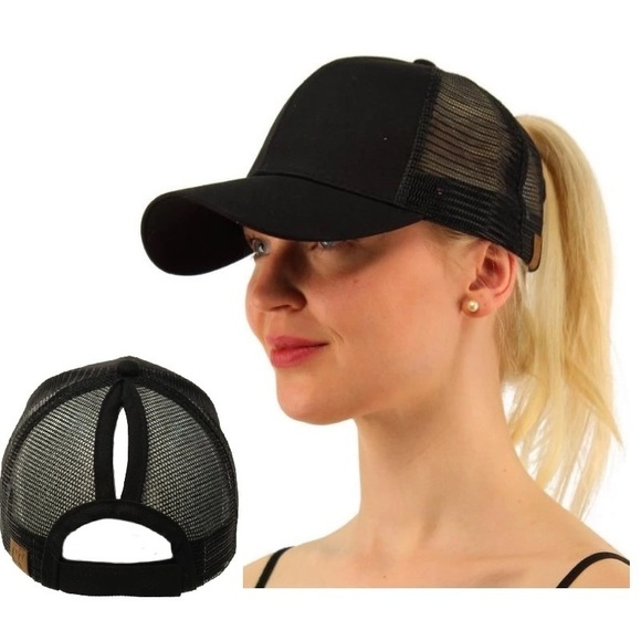 a1dd775b7962c 2018 GLAMOUR PONYTAIL MESSY BUN TRUCKERS CAP HAT