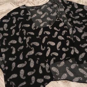 Brandy Melville kimono and crop top set paisley