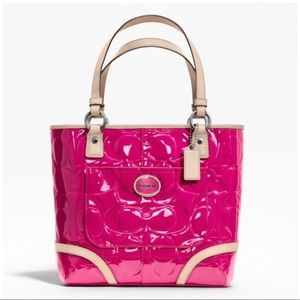 Authentic Coach Peyton Patent Leather Pink Tote