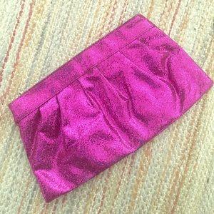 Sparkly, fuchsia clutch purse