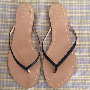 Banana Republic Black Leather Sandals Size 8.5
