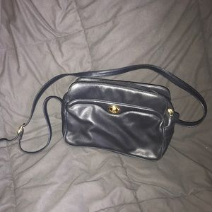 ETIENNE AIGNER NEW NAVY LEATHER PURSE