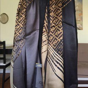 Fendi silk shawl