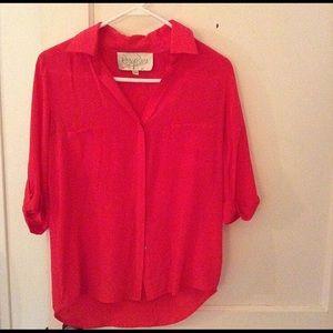 Rory Becca reddish pink blouse