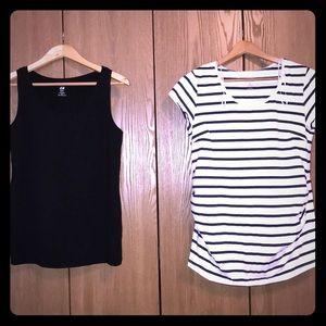 2 for 1! H&M Mama Maternity Shirt & Tank