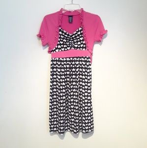 Other - Black White Pink Dress Girls Size 10/12
