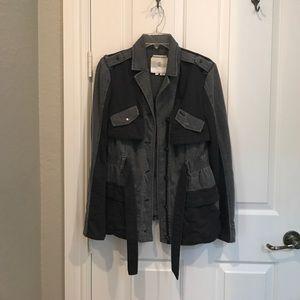 Anthropologie Hei Hei ruffle anorak jacket XS