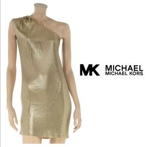 MICHAEL Michael Kors Gold Sequined Dress Small