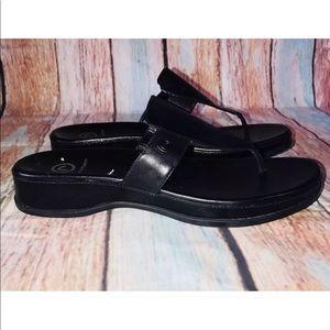 Rockport Flip Flops Back Leather Sandals Thong