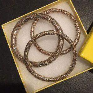 Three Kendra Scott Gold Bangles