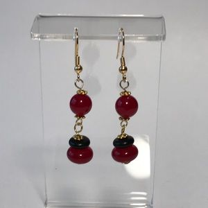 Jewelry - Earrings, Hand Crafted, Berry Black
