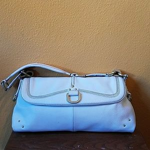 VINTAGE KENNETH COLE WHITE LEATHER PURSE