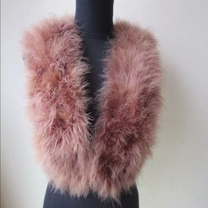 Accessories - 💞Glam Soft Mocha Ostrich Feather Vest 💞