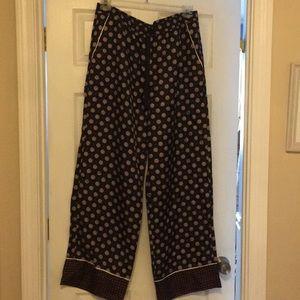 NWT Banana Republic 100% Silk Pants Size Large