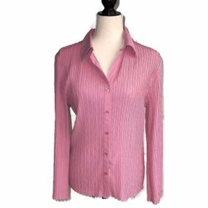 Dress Barn Mauve Crinkle Shirt-14/16