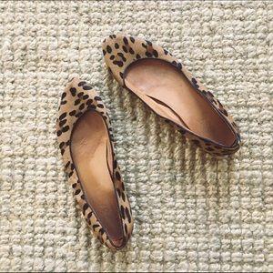 Madewell Calf Hair Leopard Sidewalk Skimmer