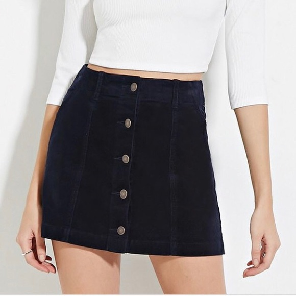 9434e91b3 Forever 21 Skirts | Black Jean Skirt | Poshmark