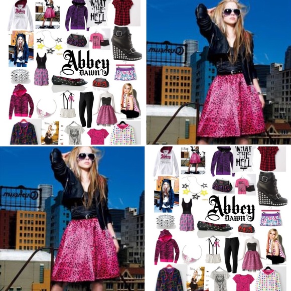 Black and Pink Abbey Dawn dress by Avril Lavigne