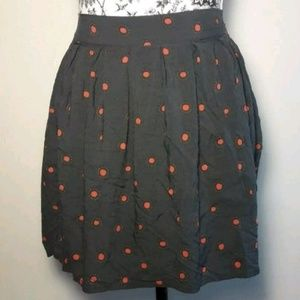 Frenchi Gray Polka Dot Lightweight Mini Skirt Sz M