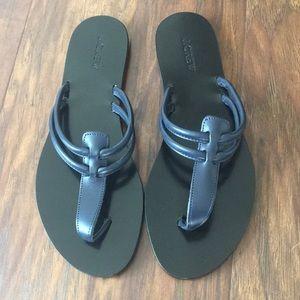• J.Crew Navy Sandals•