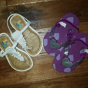 Other - Set of 2 baby girl shoes size 6